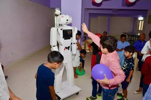 MITRA robot at birthday parties